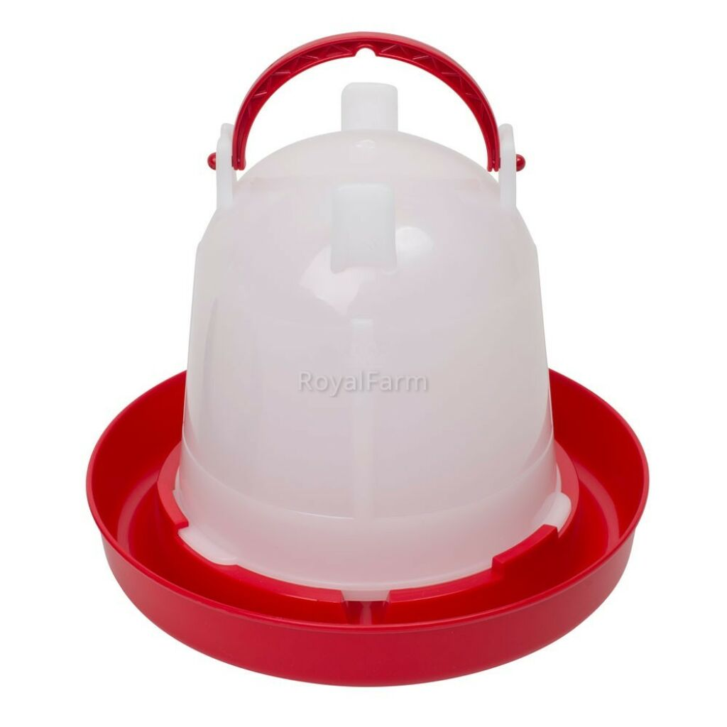 Bajonettzáras önitató, 1,5 liter, piros