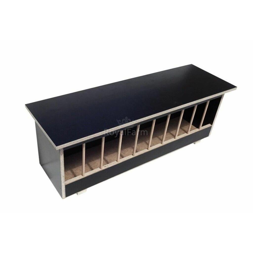 Rácsos galambetető rétegelt lemezes 125 cm -fekete