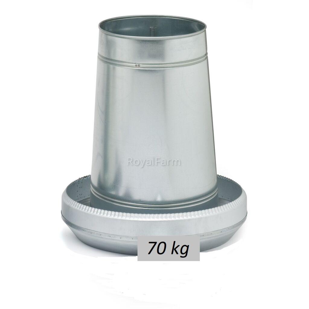 70 kg-os horganyzott lemeztartály, fedél nélkül
