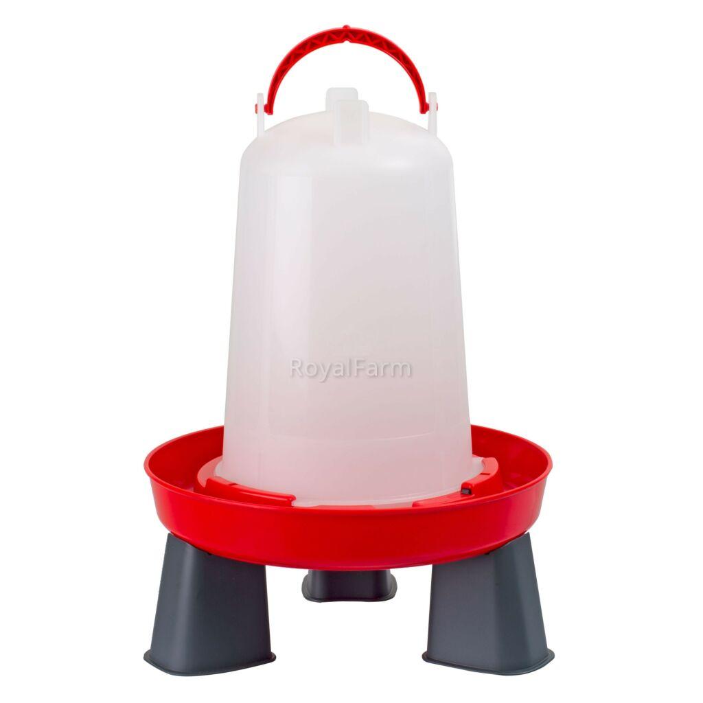 Bajonettzáras itató, lábakkal, 3 literes, piros