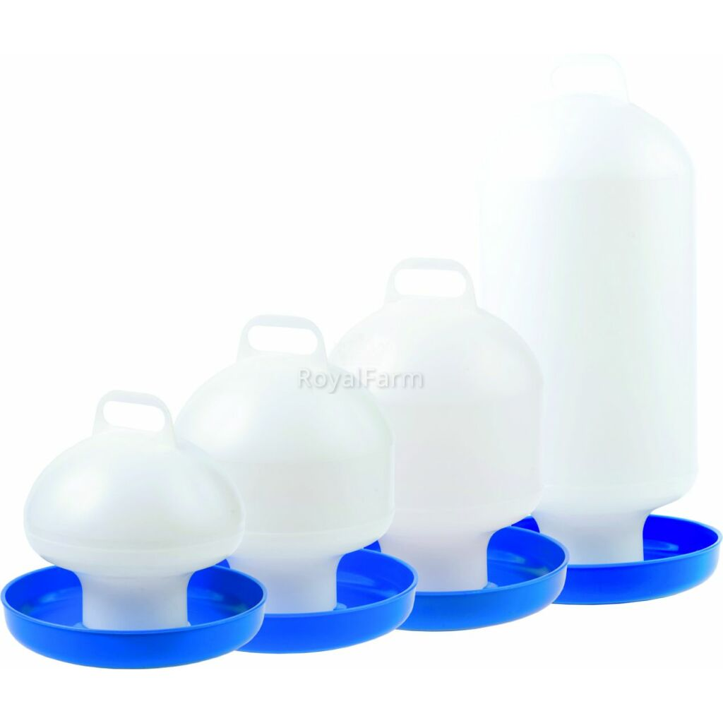 Baromfi itató - 4L - fehér/kék
