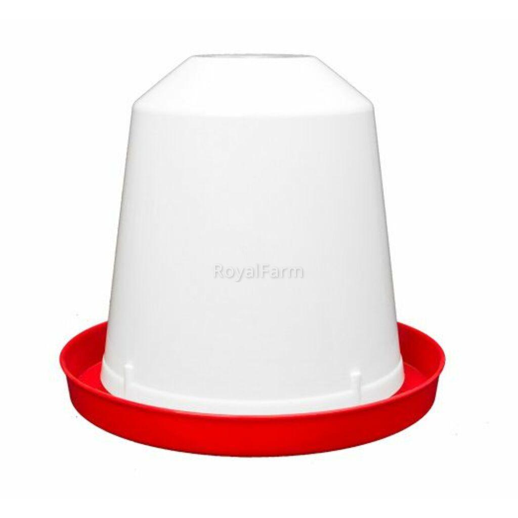 Baromfi itató - 0,75L - fehér/piros
