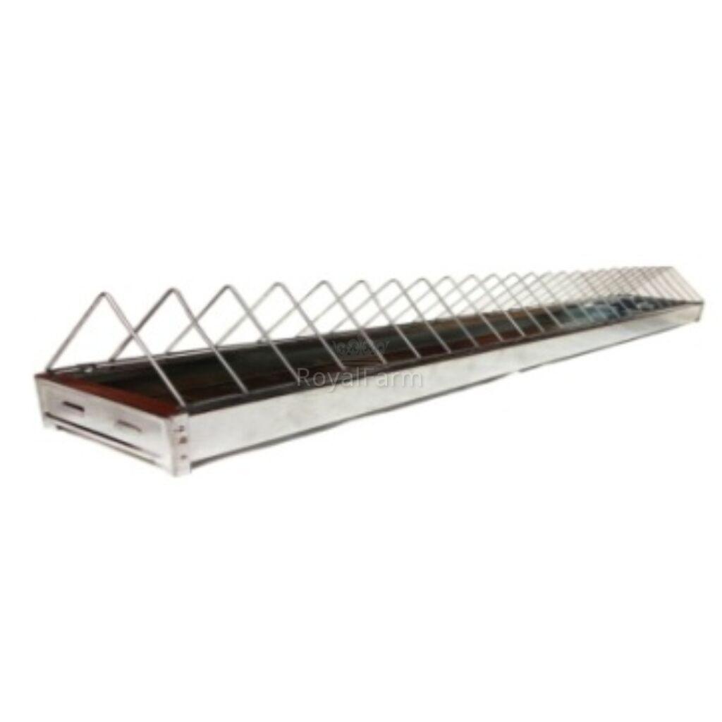 Horganyzott rácsos etető lapos aljú jércék részére (galamboknak is jó), 100cm