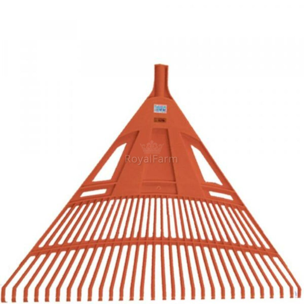 Lombseprű nagy műanyag 75cm egyenes narancssárga