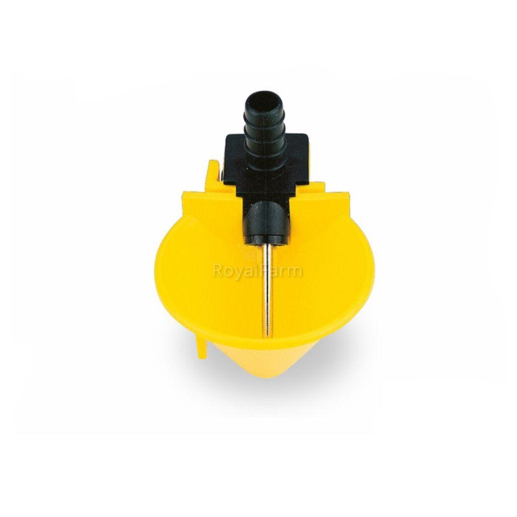 Csepptálcás itató fémtüskés sárga