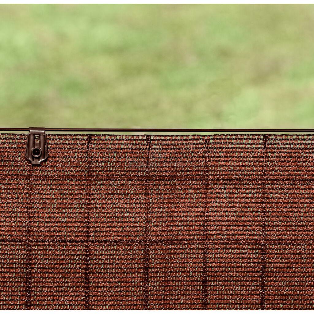 FIXATEX rögzítő kapocs szőtt árnyékoló hálóhoz  Barna