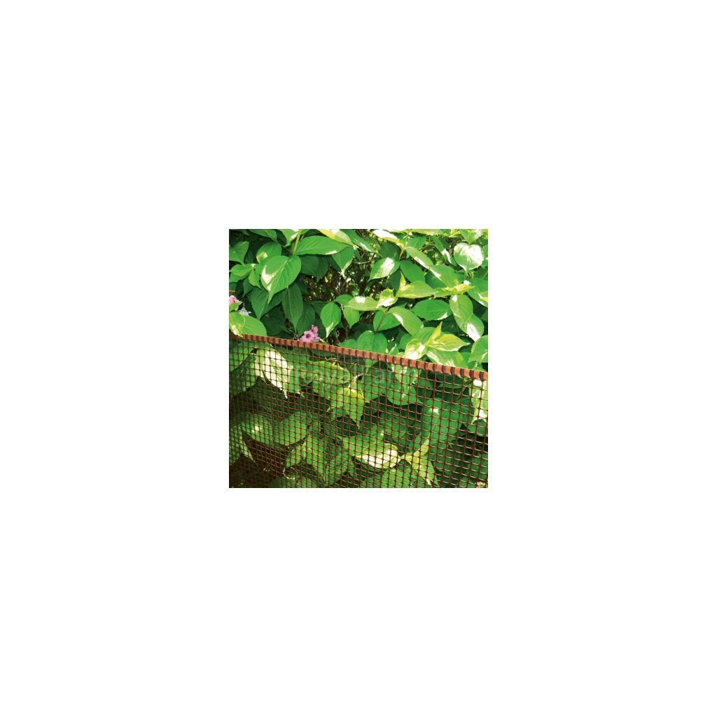 SQUARE műanyag kertirács 0.5m x 5m Barna