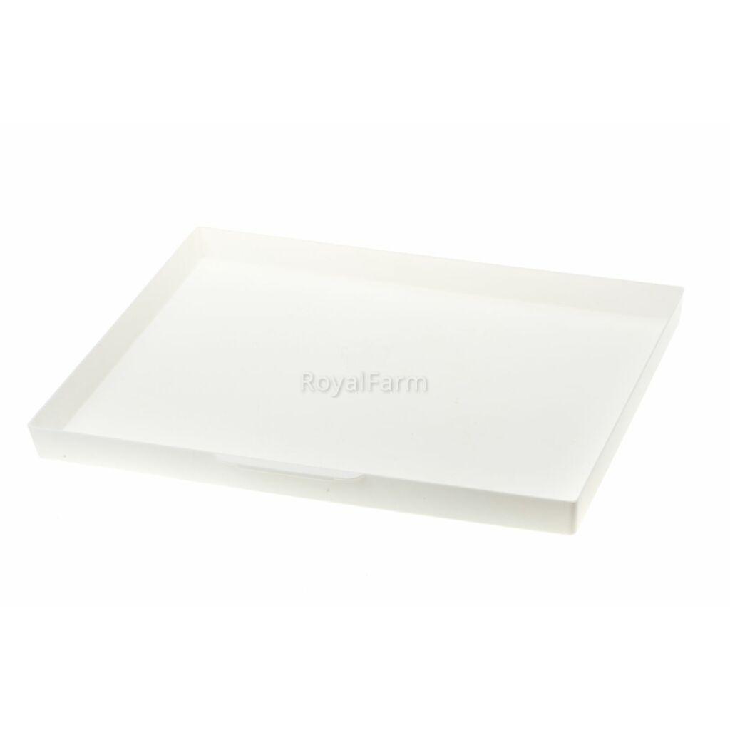 Téglalap alakú műanyag tálca fogantyúval 39,4x29,6x2,9 cm