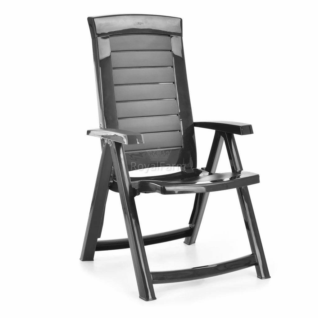 HECHTJARDINGCHAIR - Jardin graphite szék