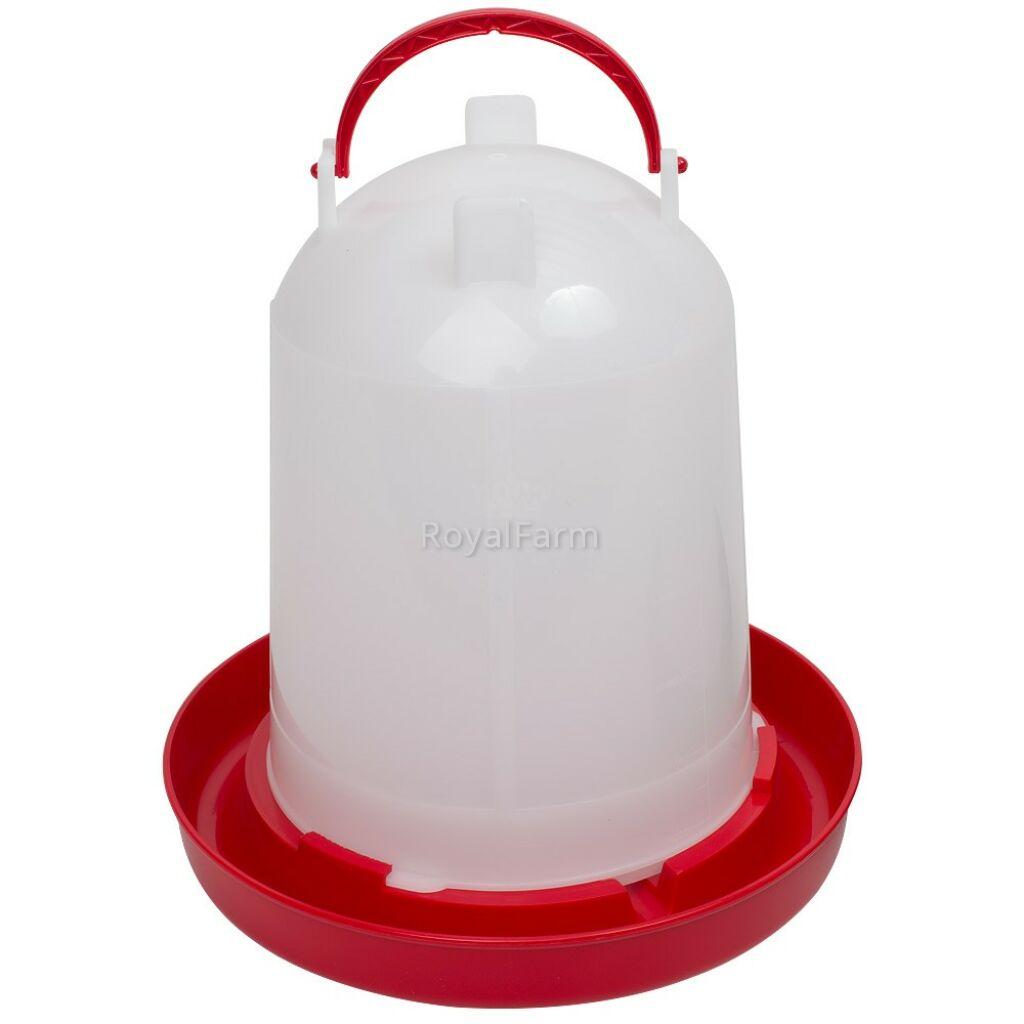 Bajonettzáras önitató, 6 liter, piros