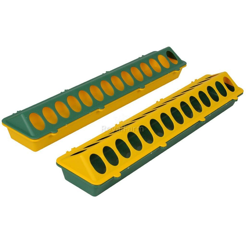 Csibeetető 50 cm, műanyag, zöld/sárga