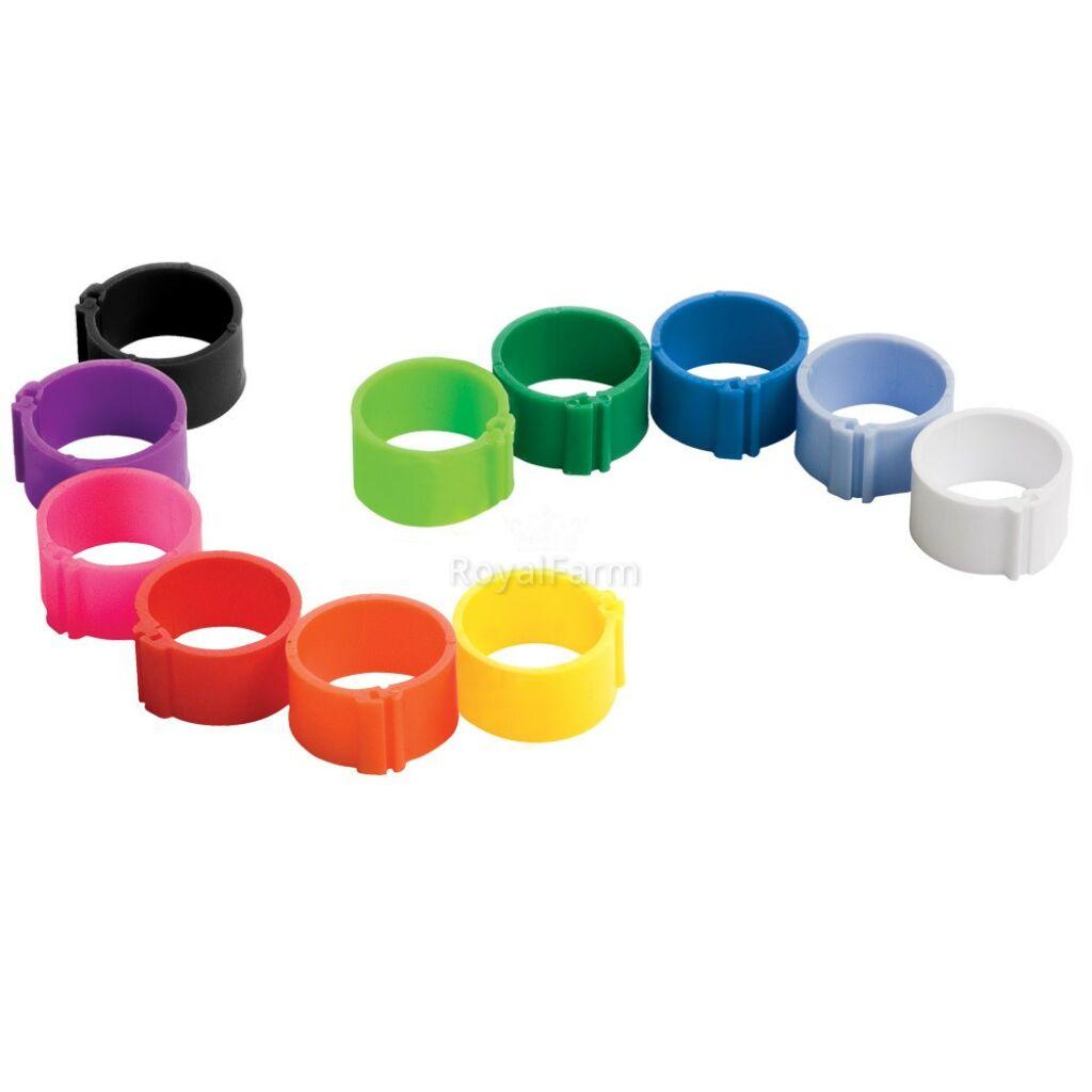 Jelölő gyűrű madárjelölő Ø 18 mm pattintós - fluorzöld