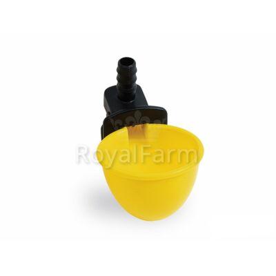 Csepptálcás itató öntöltős sárga