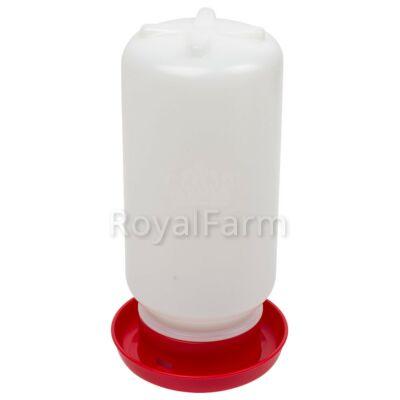 Csibe és fürj önitató 1 liter, csavaros kupakkal, piros