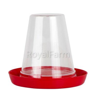 Csibe és fürj önitató 0.6 liter, átlátszó-piros