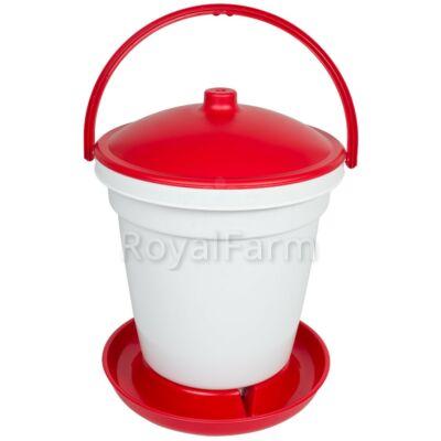 Automata baromfi önitató, 18 liter, lábak nélkül, piros