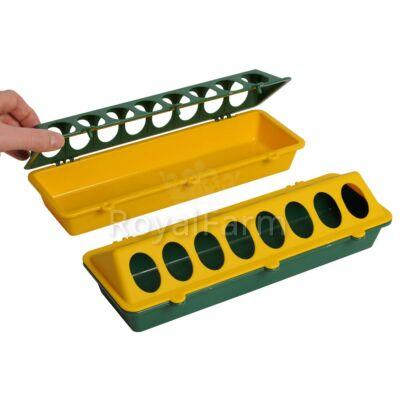 Csibeetető 30 cm, műanyag, zöld/sárga