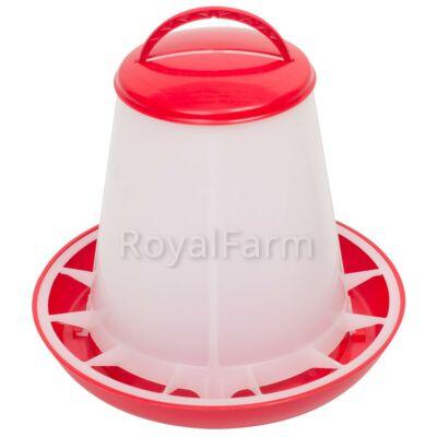 Baromfi önetető fedéllel, 1 kg, piros