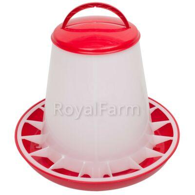 Baromfi önetető fedéllel, 3 kg, piros