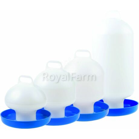 Baromfi itató - 10L - fehér/kék
