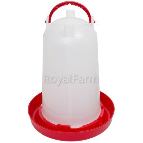 Bajonettzáras önitató, 3 liter, piros