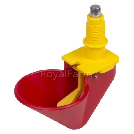 Kis piros csepptálcás itató (állvány nélkül)