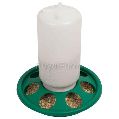 Baromfi csavaros önetető/önitató, 1 kg,  7 lyuk