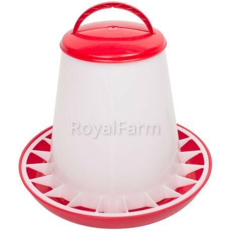 Baromfi önetető fedéllel, 6 kg, piros
